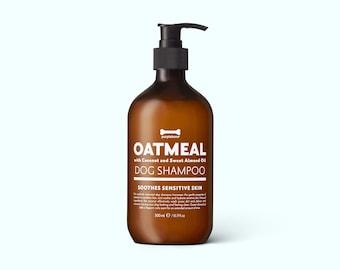 Coconut, Oatmeal, Almond Dog Shampoo (500ml) Soothe Sensitive & Itchy Skin - Professional London Dog Groomers