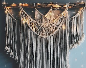 Large Boho Macrame Wall Hanging, Woven Wall Hanging, Boho Wall Decor, Woven Wall Tapestry, Dorm Wall Hanging, Wedding Backdrop