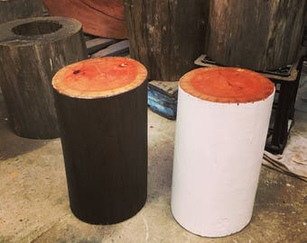 Timber trunk Stools / Sidetables