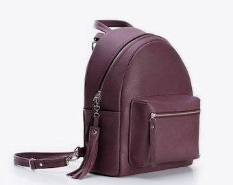 68b103418 purple leather backpack, leather backpack, leather backpack women, leather backpack  purse, backpack for women, leather backpack large
