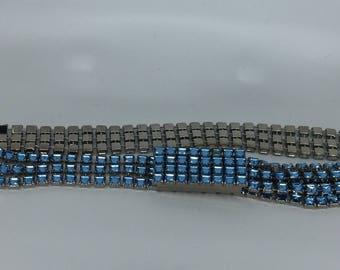 Vintage 1980's blue crystal rhinestones Disco Belt