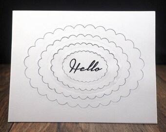 Layered Handmade Hello Card