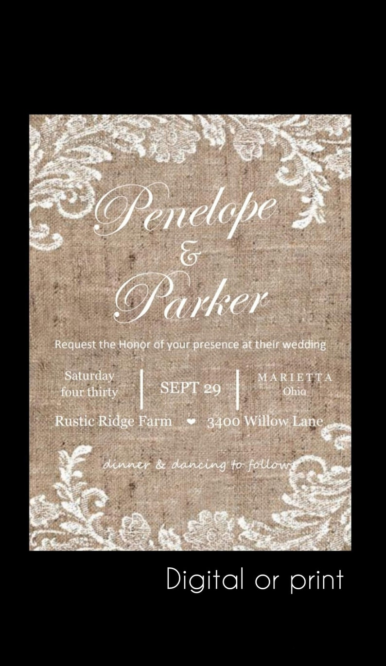 Image 0: Lace Inspired Wedding Invitations At Websimilar.org