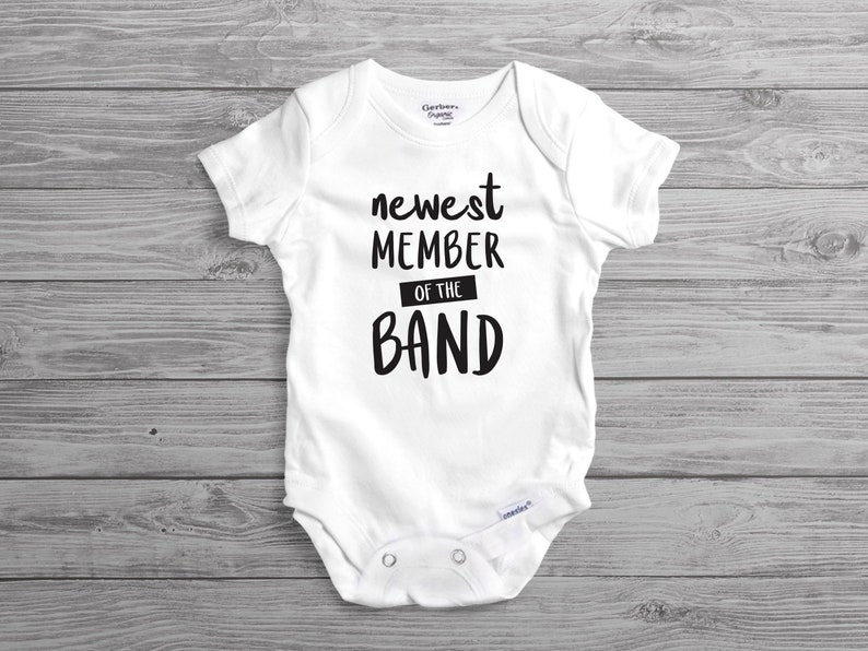4a6d60e41 Newest Member of the Band Onesies® Bodysuit for Pregnancy