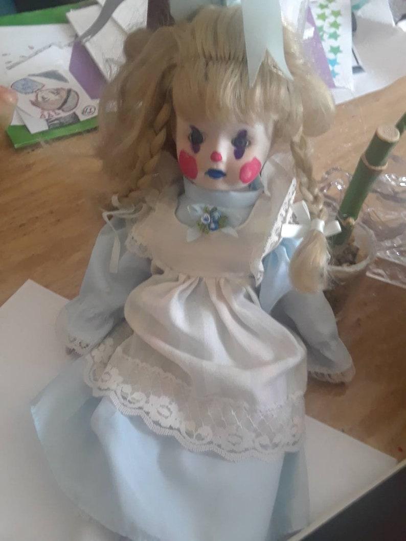 OOAK Clown Girl Porcelain Doll