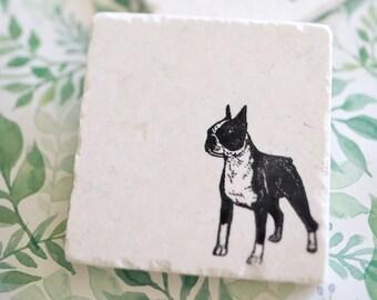 Boston Terrier Coasters/ Boston Terrier Marble Coasters/ Boston Terrier Drink Coasters/ Boston Terrier Stone Coasters/ Marble Coasters