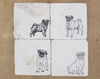 Pugs Themed Art Print Ideal for Room Decor 7x7 Tile Artwork and Kids Women Decorative Gift for Pug Lover Perfect for Men Fun Dog Owners Present Pug Lovers Gifts