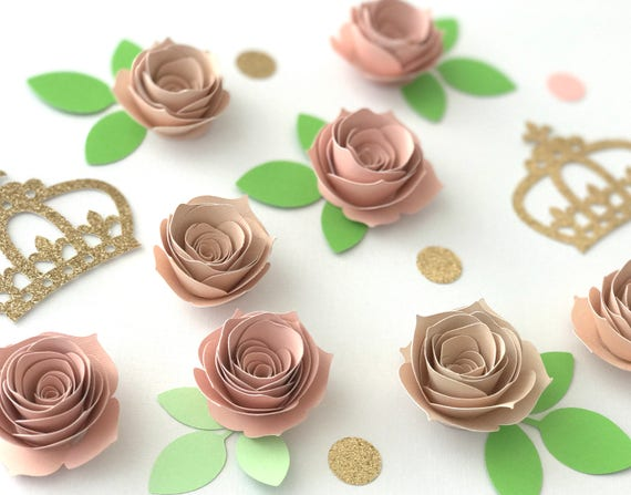 Set Of 20 Small Paper Flowers Dessert Table Decor Baby