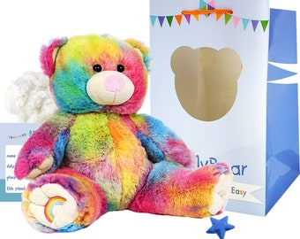No Sewing Required! Make Your Own Stuffed Animal Mini 8 Inch White Teddy Bear Kit