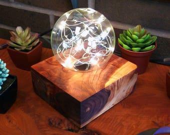 Table Lamp | Wooden Lamp | Bedside Lamp | Globe Lamp | Battery Powered Lamp | Geometric Lamp | Contemporary Lamp | Fairy Light Lamp