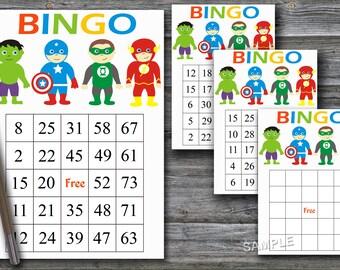 Bingo Numbers Etsy