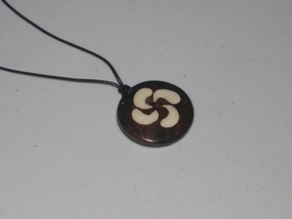 Hand carved primitive African design pendant, Buffalo bone.