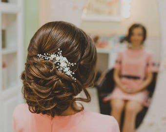 ADA | Bridal Hair comb , wedding hair accessory, bridal jewelry, Tocado de novia, wedding hair comb, hair accessory, wedding jewelry