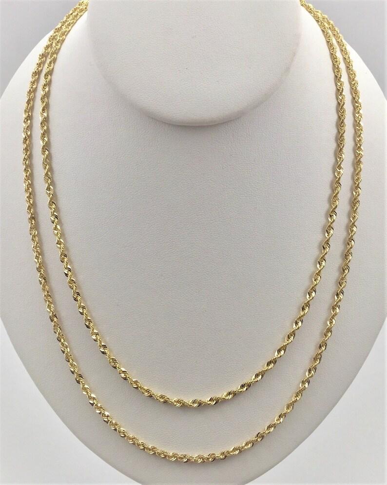 """10K White Gold Rope Twist Link Bracelet 1.5mm ~ 5mm 7/"""" ~ 9/"""""""
