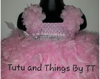 Custom Feather Tutu Dress
