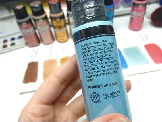 Metallic Paint Gold Paint Shimmer Paint Folk Art Paint Acrylic Paint Craft Paint Glittery Paint All Purpose Paint Reflective Paint