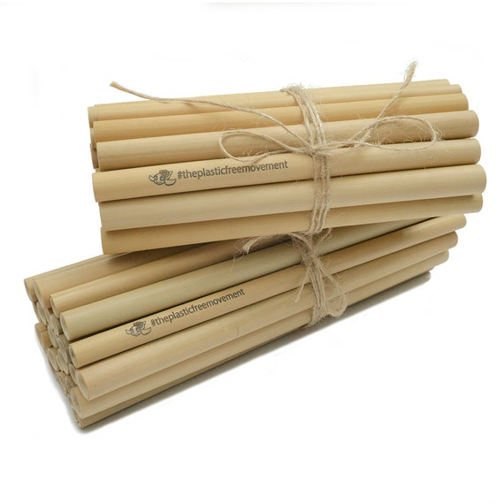 WHOLESALE 1000 Plain or Custom Engraved Bamboo Drinking Straws for  BUSINESSES GIFTS/Parties/Retail 8