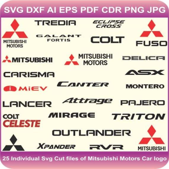 Mitsubishi logo vector | Mitsubishi logo SVG cut file