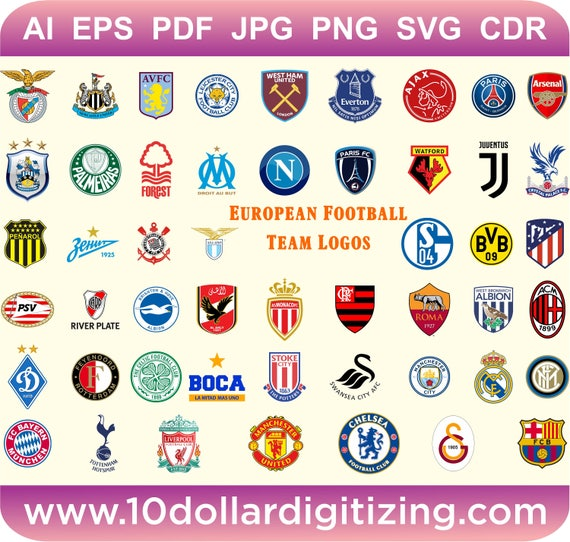 Europaische Fussball Liga Teams Vektor Europaische Fussball Club Logos Svg Vektor Download Fussball Club Logos Fussball Club Vektor Dateien