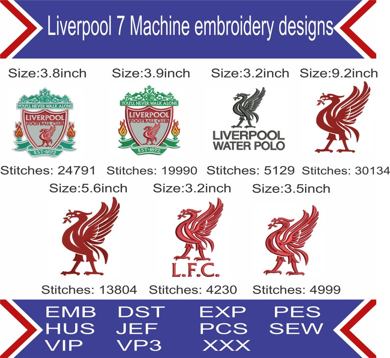 ba554662639 Liverpool fc embroidery design Liverpool football logo pes | Etsy