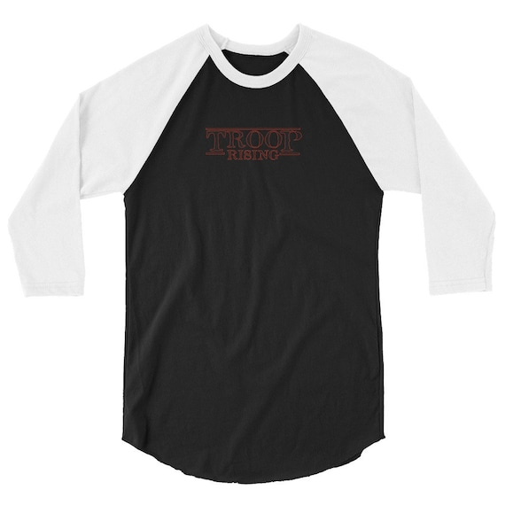 TR Troop Rising TR Things Edition 3/4 sleeve raglan shirt