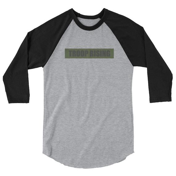 TR Troop Rising TRT Edition 3/4 sleeve raglan shirt