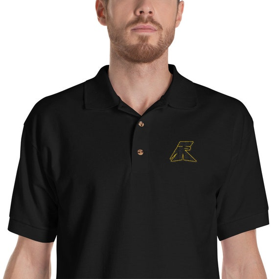 TR Troop Rising TR 1 B&Y EditionEmbroidered Polo Shirt