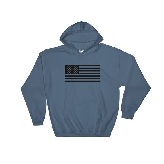 TR Troop Rising Old Glory Black Edition Hooded Sweatshirt