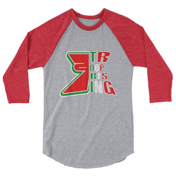 TR Troop Rising Tri Color Mex Edition 3/4 sleeve raglan shirt