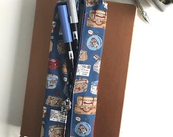 Pen Case, Travel Case, Zipper Pouch, Zipper Pencil Case, Gift for Her, Birthday Gift, Bullet Journal Supplies