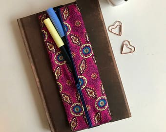 Pen Case, Zipper Pencil Case, Travel Pouch, Bullet Journaling, Gift for Her, Stationery Case, Christmas Gift, Birthday Gift