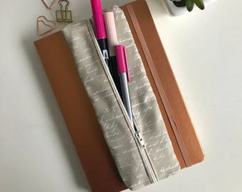 Pen Case, Pencil Case, Zipper Pouch, Zipper Pencil Case, Gift for Her, Christmas Gift