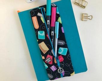 Pen Case, Tea Bags, Tea Lover, Pencil Case, Zipper Pouch, Zipper Pencil Case, Gift for Her