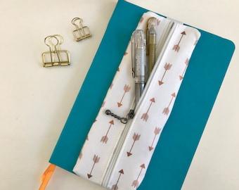 Pen Case, Arrows, Pencil Case, Zipper Pouch, Zipper Pencil Case, Gift for Her, Birthday Gift