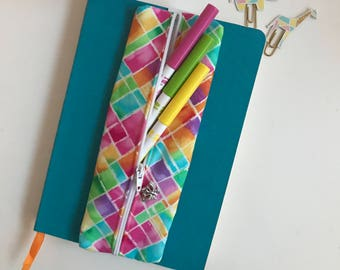 Pen Case, Pencil Case, Zipper Pouch, Zipper Pencil Case, Gift for Her, Birthday Gift