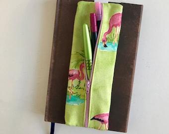 Pen Case, Flamingo, Pencil Case, Zipper Pouch, Zipper Pencil Case, Gift for Her
