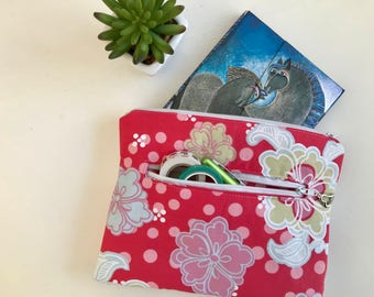 A6 Journal Cover, Bullet Journal Cover, Cosmetics Pouch, Zipper Pouch, Two Zippers, Gift for Her