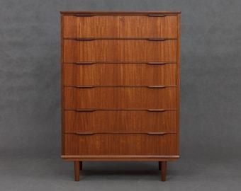 Danish minimalist chest of drawers from 60s