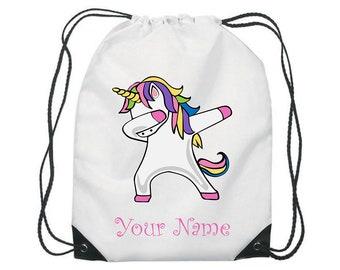Personalised Princess Gym Bag PE Dance Sports School Swim Bag Waterproof