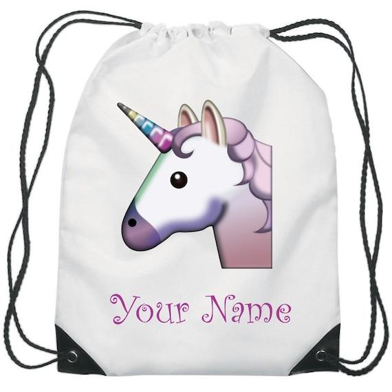 Personalised Girls Bows /& Thrills Pink Kids Drawstring Sport Swimming School Bag