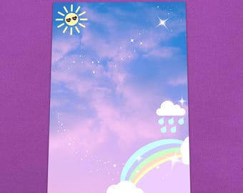 Pastel Rainbow Letter Writing Set.