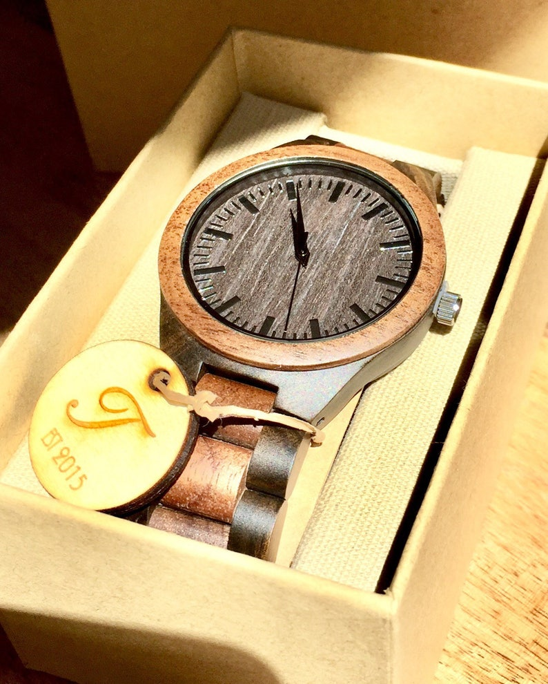 e5c44ef5695e Mens Wooden Watch Wood Watches Gifts for Him Husband Gift