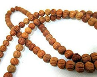 """Hitech 108 Beads Tulsi Japa Mala Approx. 29"""" Long Bead Size - 7 mm for chanting the Hare Krishna mantra Hand crafted in India Prayer beads"""