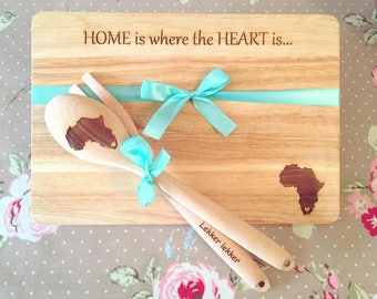 Africa/South Africa Home is where the heart is Chopping board