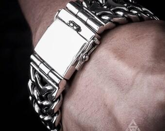 Silver Mens Bracelet Etsy