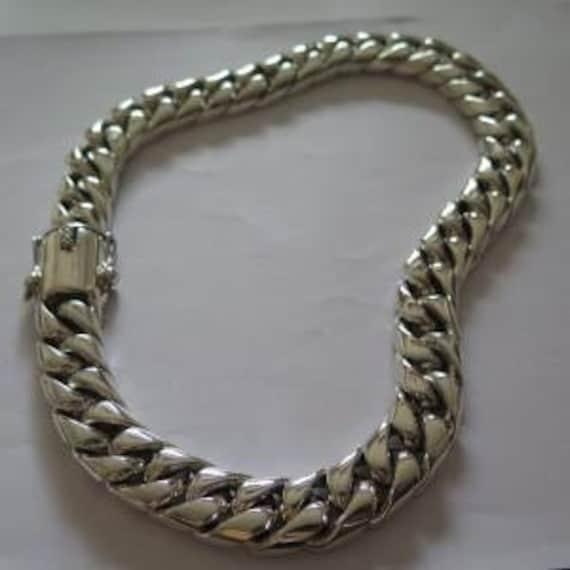 Miami Cuban 100 Gms Biker Men Heavy Chain Bracelet Genuine Sterling Silver 20mm