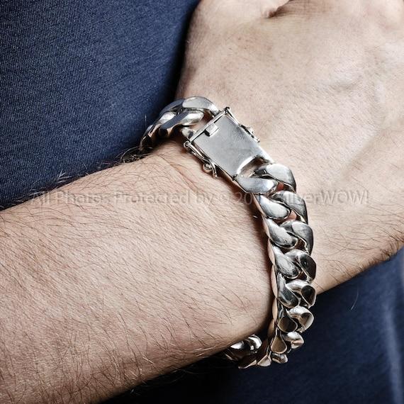 Armband Herren//Damen CURB 925 Silber mit Geschenkbox