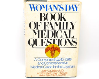 Woman's Day Book Of Family Medical Questions, 1979 Random House Hardcover, Vintage 70's Prop