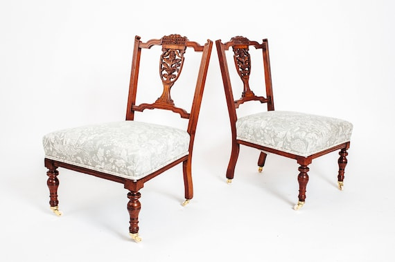 A pair of antique nursing chairs - A Pair Of Antique Nursing Chairs Etsy