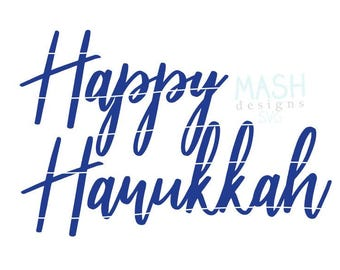 Happy Hanukkah svg, Hanukkah svg, svg for Hanukkah, Hanukkah gift svg, Hanukkah shirt svg, svg for shirt, holiday svg, svg with words